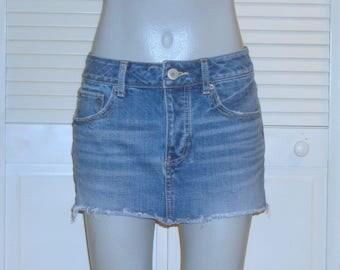 American Eagle Outfitters Denim Blue Jean Mini Skirt~6~
