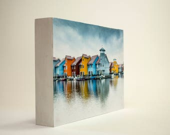 Colorful Town DecoFrame. Wall Art Anyday Gift