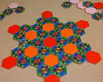 ON SALE Summer Vacation Mandala Puzzle Game, Educational  Present, Kid's Gift, Montessori Toy, Children Matching Game, Geometric Blocks, Tod