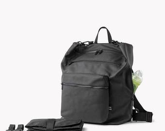 SALE 20.00 USD OFF Diaper bag, Diaper bag backpack, Baby bag, Changing bag, Black diaper bag, Stroller bag, Convertible,Laptop backpack Cros