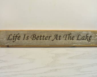 Life is Better at the Lake Barnwood Door Topper