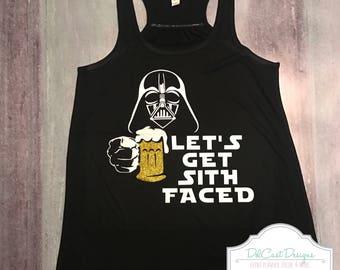 Disney Darth Vader Let's Get Sith Faced Beer Women shirt