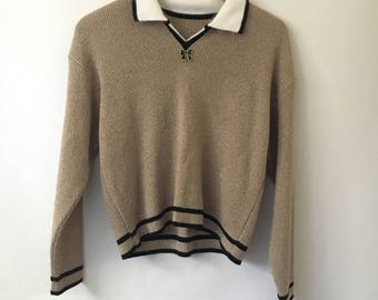 Vintage Bow Acrylic Pullover
