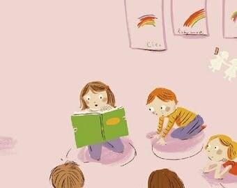Kinder - Kindergarten Pink - Heather Ross - Windham (43480-1)