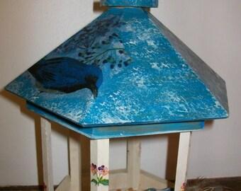 Interior design with bird feeder.