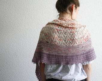 Yarn kit for Belladonna shawl by Nadia Crétin-Léchenne
