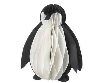 Paper Penguin Decoration - Hanging