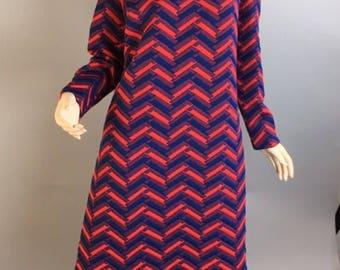 Marta D 60s Dress// Vintage Mod Shift Dress// Mad Men Mod Dress XL