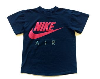 90s nike air t shirt just do it swoosh tee size large og nike black red grey single stitch 100% cotton