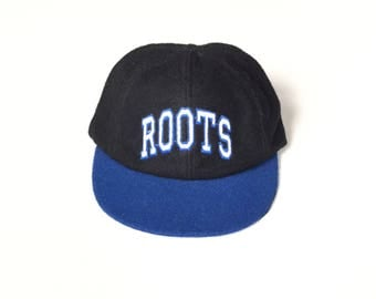 90s ROOTS Canada 100% WOOL Snapback Snap back Strapback hat One Size fits all Adult Unisex Wool