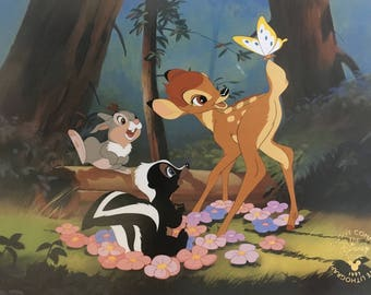 Disney Bambi Lithograph