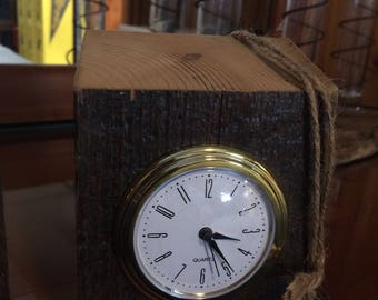 Barn Beam Desk Clock