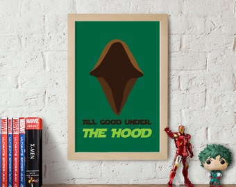 Under The Hood Jedi Star Wars Poster