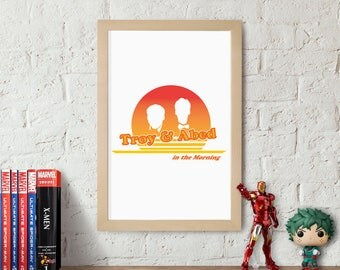 Troy and Abed in the Morning Community Poster Print