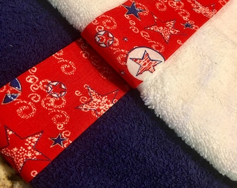 Patriotic Decor, Red White and Blue Dish Towel, Patriotic Hand Towel, Hand Towel, Bathroom Hand Towel, Dish Towel, Stars Hand Towel,