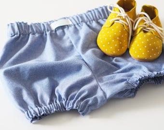 Ocean Blue Cotton Bloomers