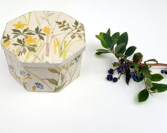 Floral Tin by IRA Denmark, 70s Danish Garden Tin, Seed Tea Tin Container, Vintage Storage, Scandinavian Collectible