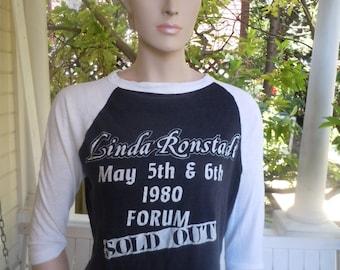 Size M (37) ** Ultra Rare 1980 Linda Ronstadt Concert Shirt (Single Sided)