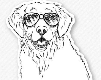 Toby the Golden Retriever - Dog Decal Sticker, Goldie Lover, Gifts For Dog Owner