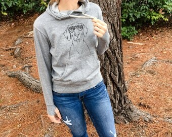 Walter the Weimaraner - Grey French Terry - Unisex Slim Fit - Dog Lover, Gifts for Dog Owner