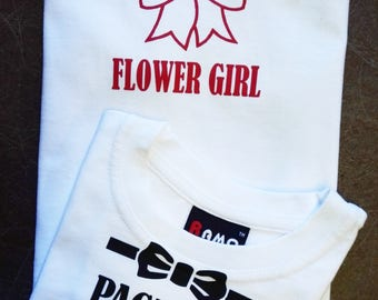 Page Boy & Flower Girl set of 2 tees