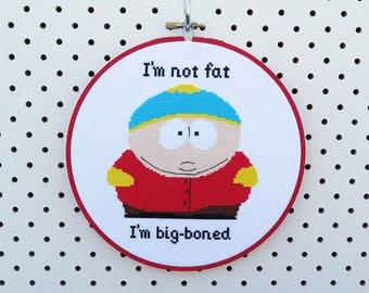 South Park Cartman Cross Stitch
