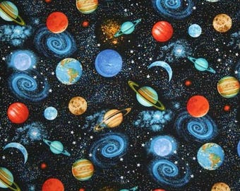 planets outer space solar system fabric galaxy fabric On outer material