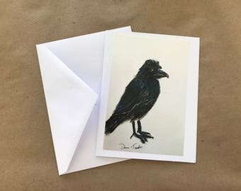 Raven Note Card