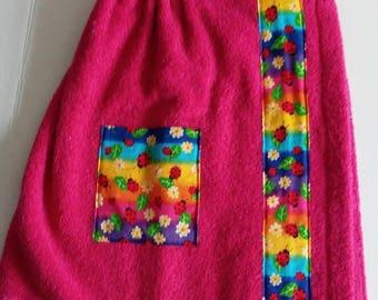 Little Girls Pool/Beach/Shower Towel Wrap
