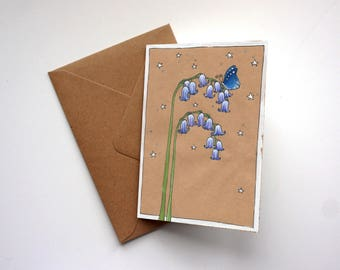 Bluebell Illustration - Greeting Card