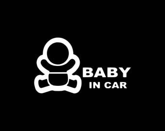 Baby On Board Decal, Baby In Car Decal,Baby On Board Car Decal,Baby In Car, Baby On Board Sticker Cute Baby on Board Decal Window Decal