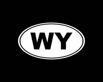 Wyoming Decal, WY State Decal,Cheyenne,Wyoming State Decals,Cowboy State Stickers Vinyl Die-Cut Car Decals,Home State Decals