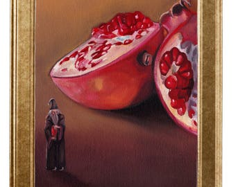 Art print of original oil painting-Dumbledore stills-DINA4