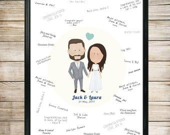 Wedding Guest Book Alternative, Wedding Portrait GuestBook, Custom Portrait wedding guest book, guest book alternative, guest book wedding