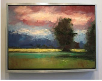 Summer Landscape Original Oil Painting