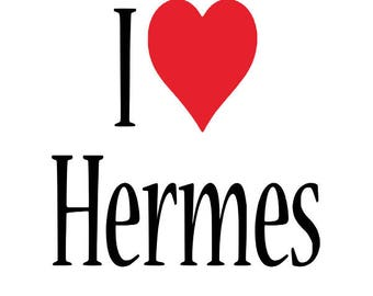 Hermes Decal, I love Hermes Decal, Car Decal, iPad Chanel Decal, Yeti Cup Decal