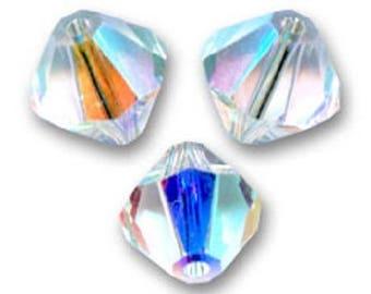6 bicone 8 mm crystal ab Swarovski Crystal bead
