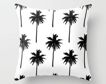 Palm Tree Pillow with insert - Palm Tree Throw Pillow with insert - Nautical Pillow with insert - Nautical Decor - Summer Decor -