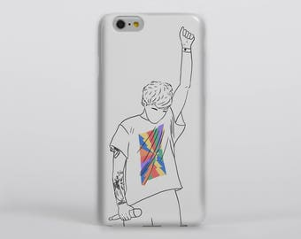 Just Hold On Phone Case iPhone Samsung One Direction Harry Styles Portrait Drawing Illustration