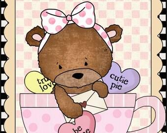 E-Pattern Primitive Valentine Cross Stitch Pattern 04