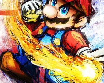 Mario - Super Mario Brothers - Fine Art Print