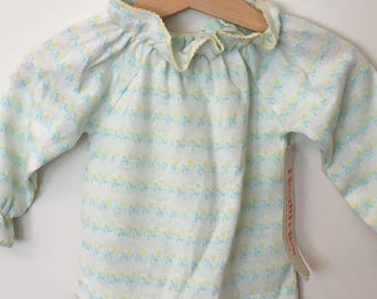 Healthtex/ NOS/ Deadstock/ Vintage Baby Clothes, Baby Girl, Shirt, Baby Top, 12 months