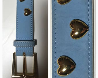 ESCADA light blue leather belt