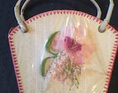 Cute pink floral vintage bag