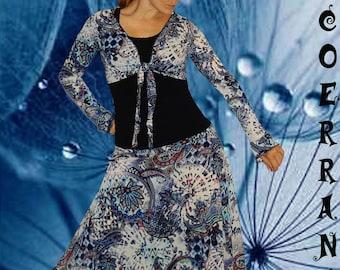 Bolero and harem pants 'Blue Arabesk' set '