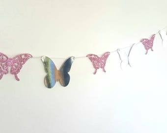 Butterfly card garland