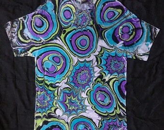 Demented Marbled Psychedelic Shirt Size Large