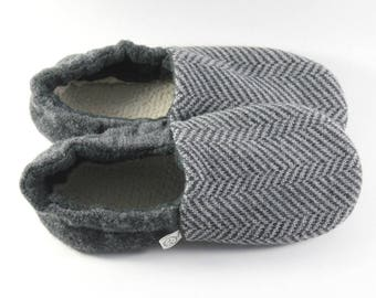 Easter Gift for Son- Kids Slippers- Little Boy Gift- Cozy Gifts- Classroom Shoes- Wool Slippers- Minimalist Gift- Hygge- Natural Gifts