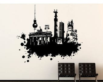 20% OFF Summer Sale Berlin Streetart wall decal, sticker, mural, vinyl wall art