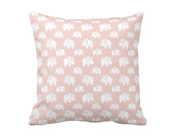 Blush Pink Pillow Cover Pink Throw Pillow Cover Decorative Pillows for Nursery Pillows Elephant Pillows Blush Pink Nursery Decor Girl